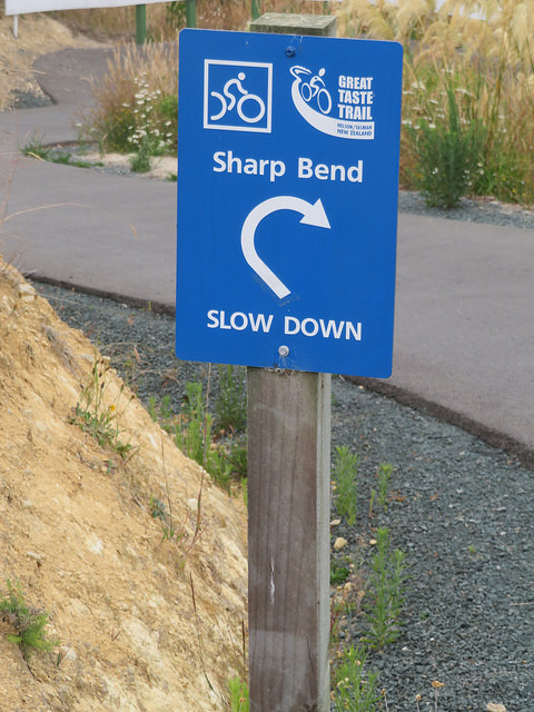 Sharp bend