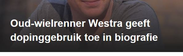 Westra geeft doping toe